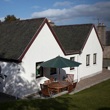 The rear of Strathspey Cottage
